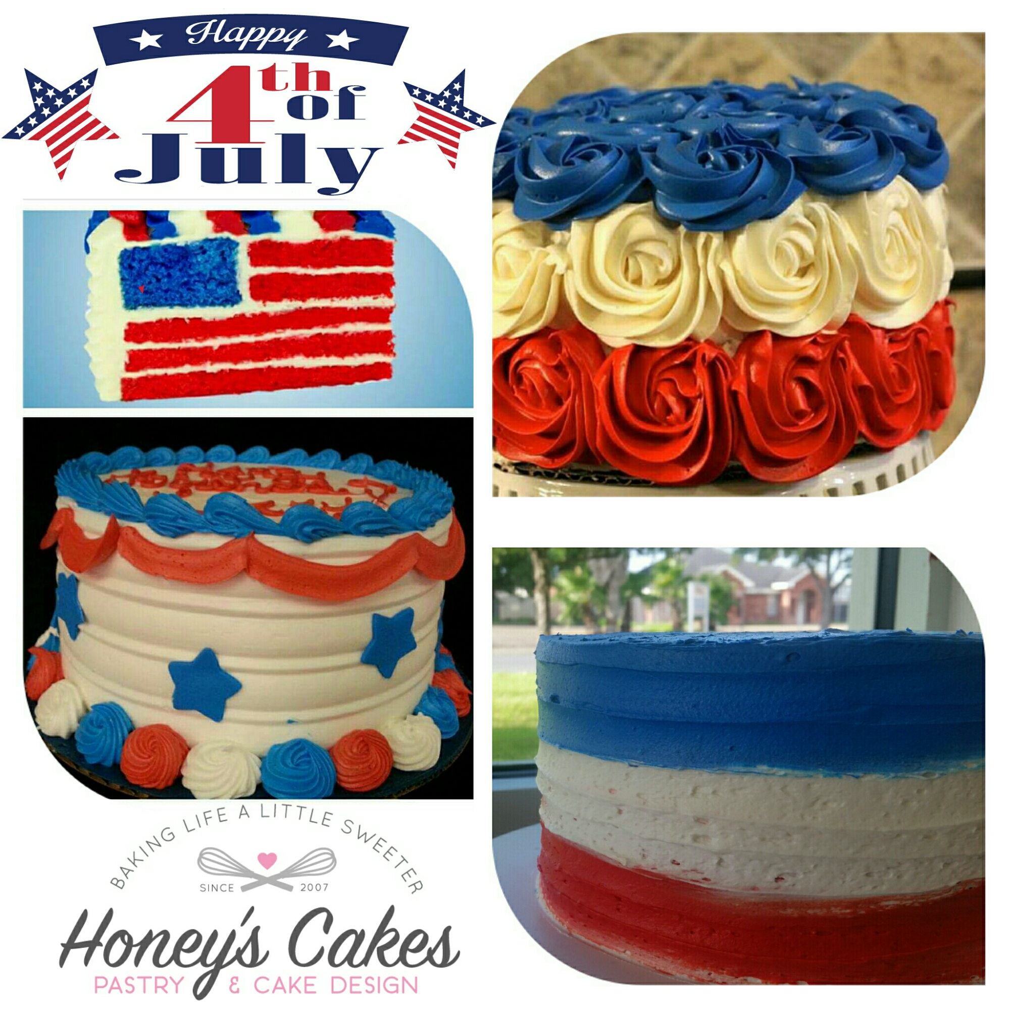 Irder Your 4th Of July Flag Cake Honey S Cakes